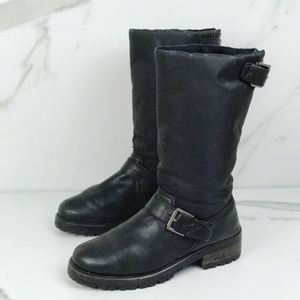Coach Black Snow Nylon Insulated Winter Boots 8